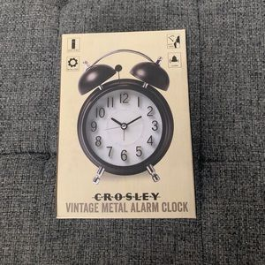 New Crosley vintage metal alarm clock